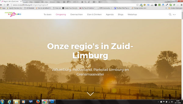 website vvv Zuid Limburg